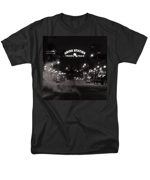 Denver Union Station Square Image Men's T-Shirt  (Regular Fit) by Ken Smith