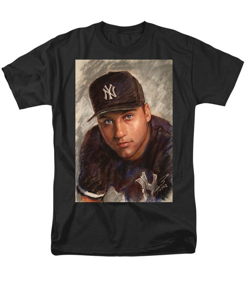 Men's T-Shirt  (Regular Fit) featuring the drawing Derek Jeter by Viola El