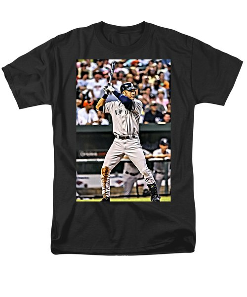 Derek Jeter Painting Men's T-Shirt  (Regular Fit) by Florian Rodarte