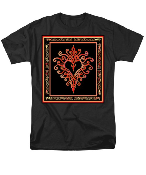 Men's T-Shirt  (Regular Fit) featuring the digital art Devil's Heart by Vagabond Folk Art - Virginia Vivier