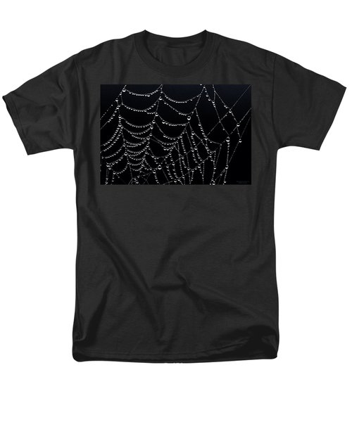 Dew Drops On Web 2 Men's T-Shirt  (Regular Fit) by Marty Saccone