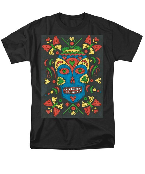 Dia De Los Muertos Men's T-Shirt  (Regular Fit) by Susie Weber