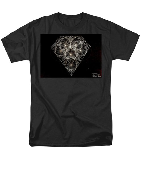 Men's T-Shirt  (Regular Fit) featuring the drawing Diamond White And Black by Jason Padgett