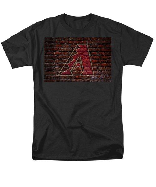 Diamondbacks Baseball Graffiti On Brick  Men's T-Shirt  (Regular Fit) by Movie Poster Prints