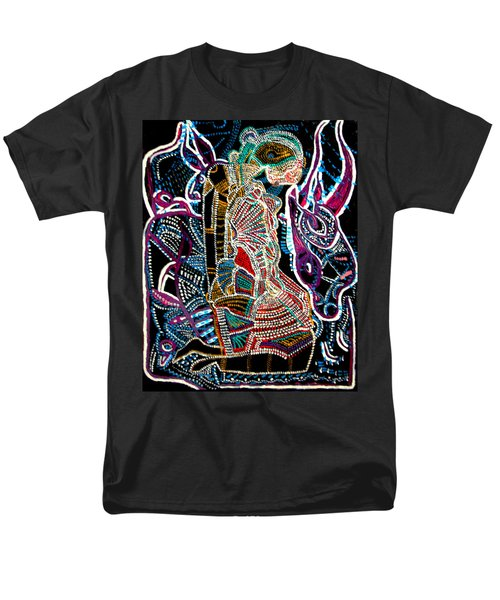 Men's T-Shirt  (Regular Fit) featuring the painting Dinka Bride by Gloria Ssali