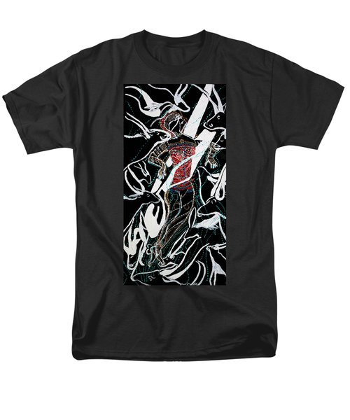 Men's T-Shirt  (Regular Fit) featuring the painting Dinka Dance by Gloria Ssali