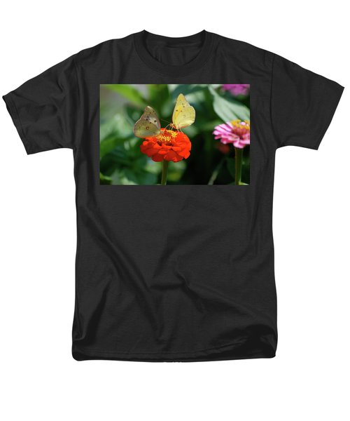 Men's T-Shirt  (Regular Fit) featuring the photograph Dinner Table For Two Butterflies by Thomas Woolworth