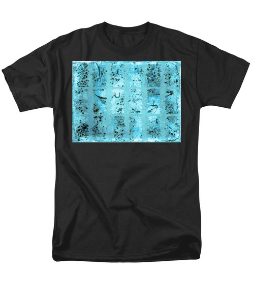 Men's T-Shirt  (Regular Fit) featuring the photograph Dirty Snow Grunge by Paula Ayers