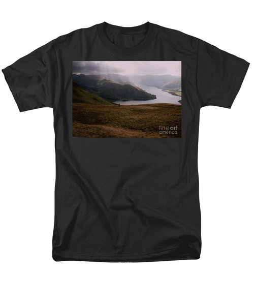 Men's T-Shirt  (Regular Fit) featuring the photograph Distant Hills Cumbria by John Williams