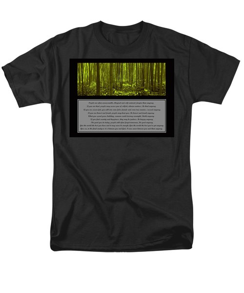Do It Anyway Bamboo Forest Men's T-Shirt  (Regular Fit)