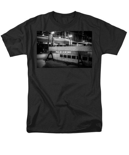 Do Not Cross Men's T-Shirt  (Regular Fit) by Melinda Ledsome