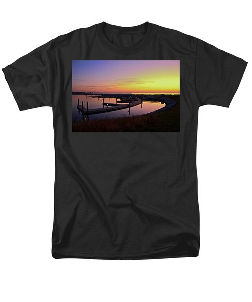 Men's T-Shirt  (Regular Fit) featuring the photograph Docks At Sunrise by Jonah  Anderson
