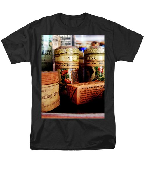 Men's T-Shirt  (Regular Fit) featuring the photograph Doctor - Liver Pills In General Store by Susan Savad