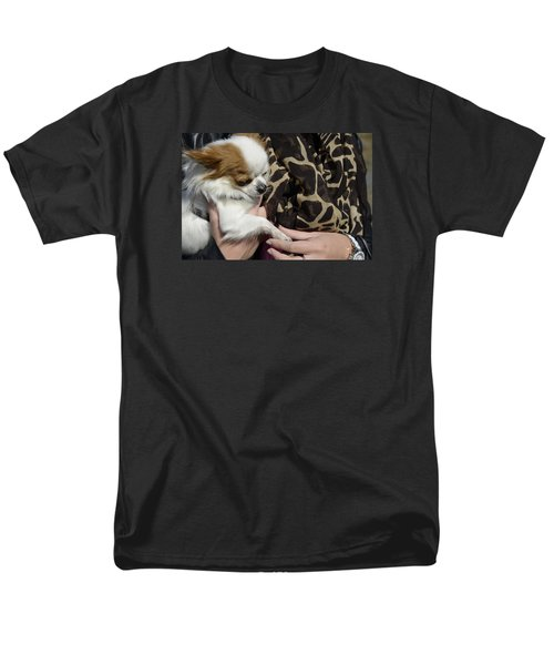 Men's T-Shirt  (Regular Fit) featuring the photograph Dog And True Friendship 3 by Teo SITCHET-KANDA