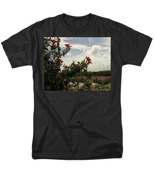 Dominican Red Flower Men's T-Shirt  (Regular Fit) by Mustafa Abdullah