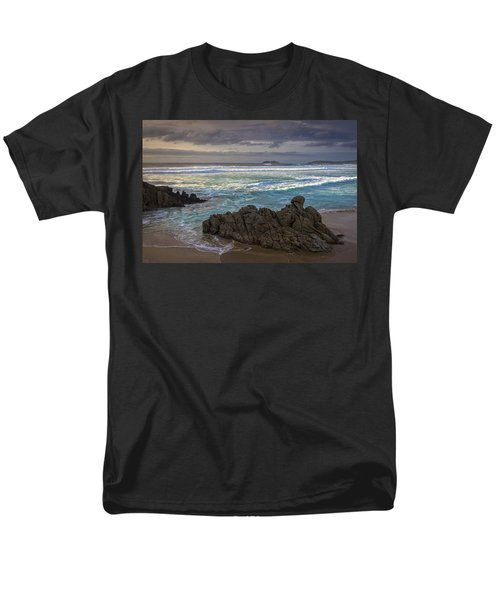 Men's T-Shirt  (Regular Fit) featuring the photograph Doninos Beach Ferrol Galicia Spain by Pablo Avanzini