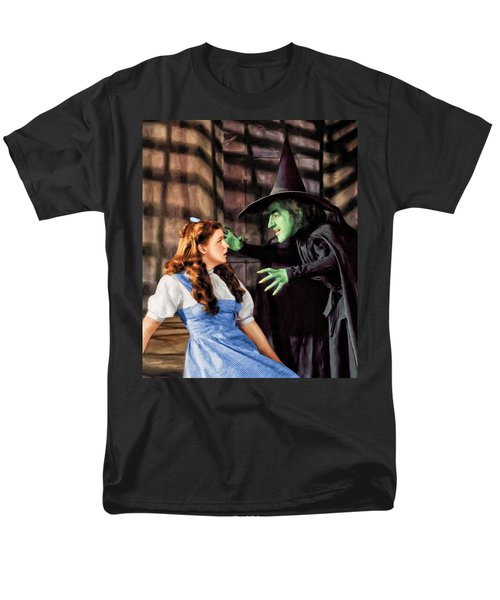 Dorothy And The Wicked Witch Men's T-Shirt  (Regular Fit) by Dominic Piperata