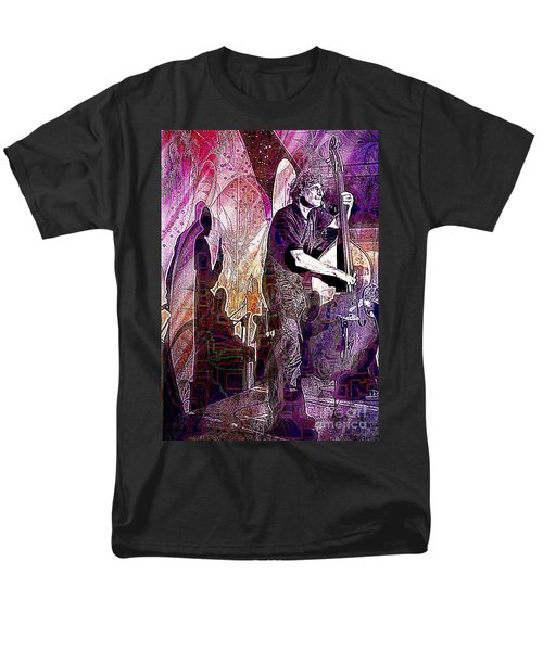 Double Bass Silhouette  Men's T-Shirt  (Regular Fit) by Ian Gledhill