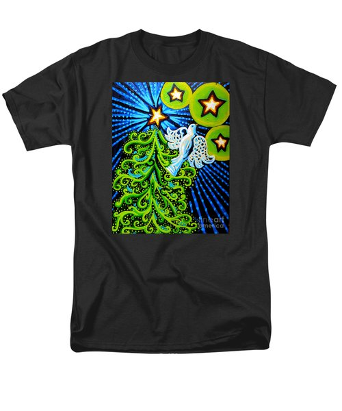 Dove And Christmas Tree Men's T-Shirt  (Regular Fit) by Genevieve Esson