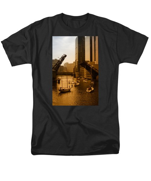 Downtown Chicago Men's T-Shirt  (Regular Fit) by Miguel Winterpacht