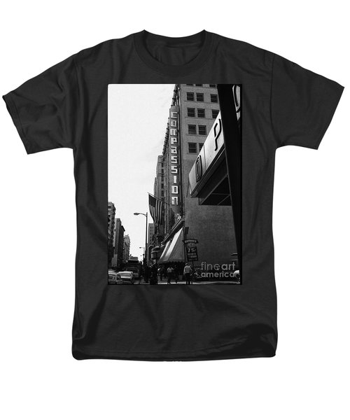 Men's T-Shirt  (Regular Fit) featuring the photograph Downtown La - Mid '70's by Doc Braham