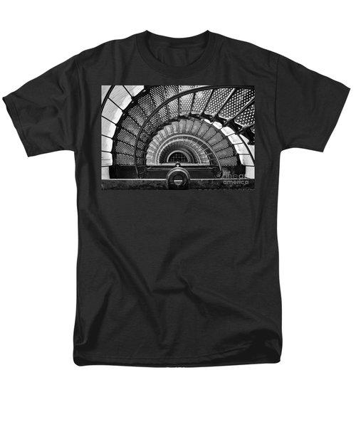 Downward Spiral Bw Men's T-Shirt  (Regular Fit)