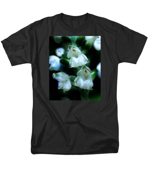 Men's T-Shirt  (Regular Fit) featuring the photograph Downy Rattlesnake Plantain Orchid by William Tanneberger