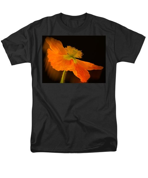 Dramatic Orange Poppy Men's T-Shirt  (Regular Fit) by Don Schwartz
