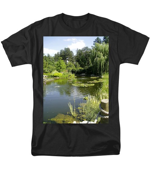 Men's T-Shirt  (Regular Fit) featuring the photograph Dreamy Pond by Verana Stark