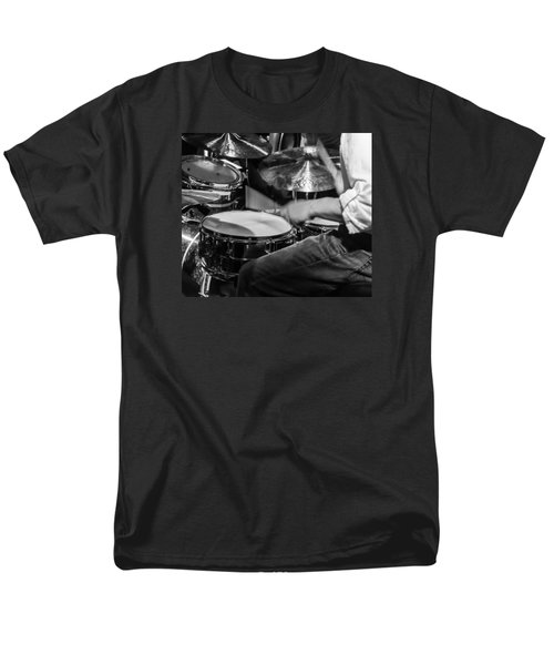 Drummer At Work Men's T-Shirt  (Regular Fit) by Photographic Arts And Design Studio