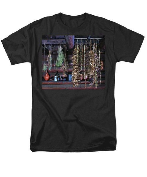 Drying Herbs And Vegetables In Williamsburg Men's T-Shirt  (Regular Fit) by Dave Mills