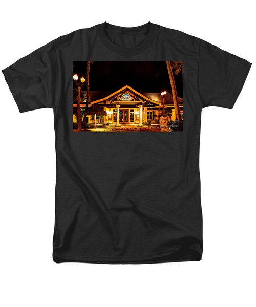 Men's T-Shirt  (Regular Fit) featuring the photograph Duke's Restaurant Front - Huntington Beach by Jim Carrell