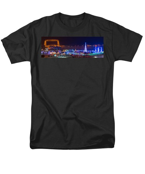 Duluth Christmas Lights Men's T-Shirt  (Regular Fit) by Paul Freidlund