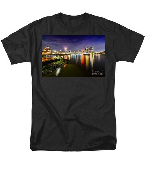 Dusseldorf Media Harbor Skyline Men's T-Shirt  (Regular Fit) by Daniel Heine