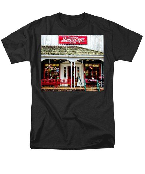 Dyer's Cafe Memphis  Men's T-Shirt  (Regular Fit) by Barbara Chichester