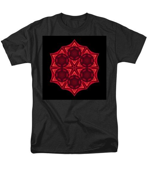 Men's T-Shirt  (Regular Fit) featuring the photograph Dying Amaryllis IIi Flower Mandala by David J Bookbinder
