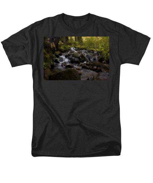 Men's T-Shirt  (Regular Fit) featuring the photograph Early Autumn Cascades by Ellen Heaverlo