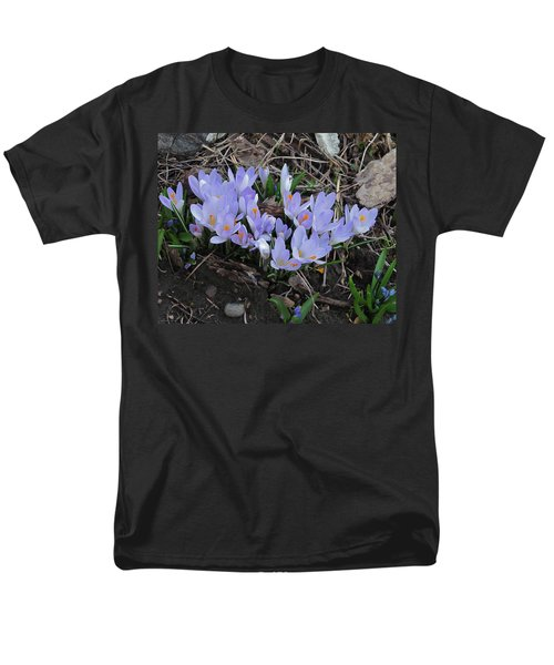 Early Crocuses Men's T-Shirt  (Regular Fit) by Donald S Hall