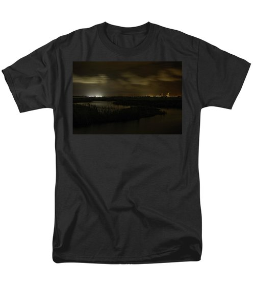 Men's T-Shirt  (Regular Fit) featuring the digital art Early Morning Over Lake Shelby by Michael Thomas