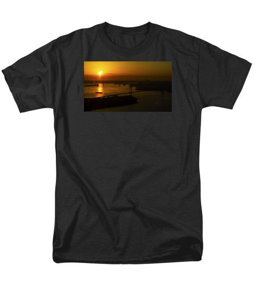 East River Sunrise Men's T-Shirt  (Regular Fit) by Greg Reed
