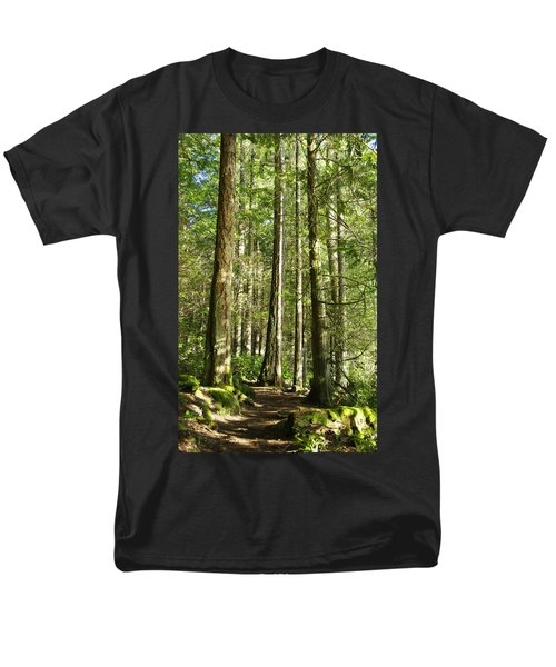 East Sooke Park Trail Men's T-Shirt  (Regular Fit) by Marilyn Wilson