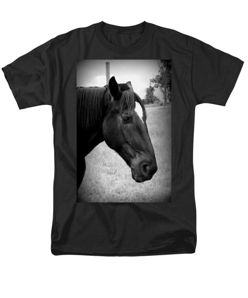Men's T-Shirt  (Regular Fit) featuring the photograph Ebony Beauty by Laurie Perry