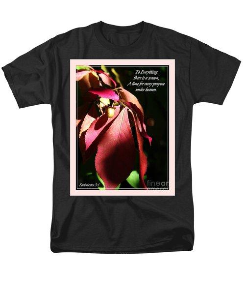 Ecclesiastes 3 Verse 1 Men's T-Shirt  (Regular Fit) by Sara  Raber