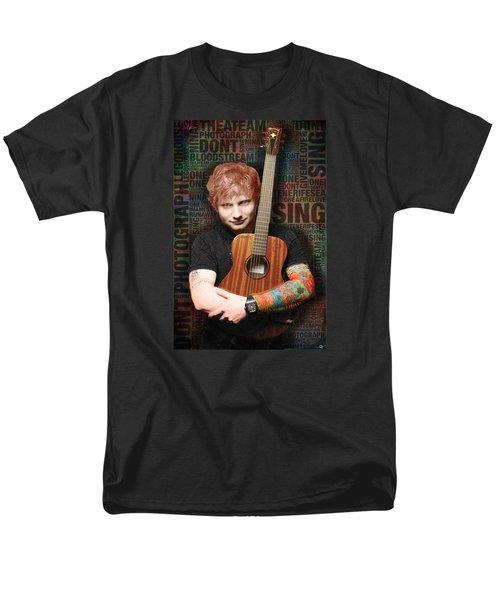 Ed Sheeran And Song Titles Men's T-Shirt  (Regular Fit) by Tony Rubino
