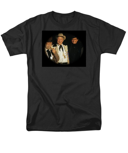 Men's T-Shirt  (Regular Fit) featuring the photograph Edgar Buchanan Chills Wills  Johnny Cash Porch Old Tucson Arizona 1971-2008 by David Lee Guss
