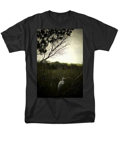 Egret At Sunset Men's T-Shirt  (Regular Fit) by Bradley R Youngberg