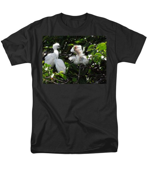 Egret Chicks Men's T-Shirt  (Regular Fit) by Ron Davidson