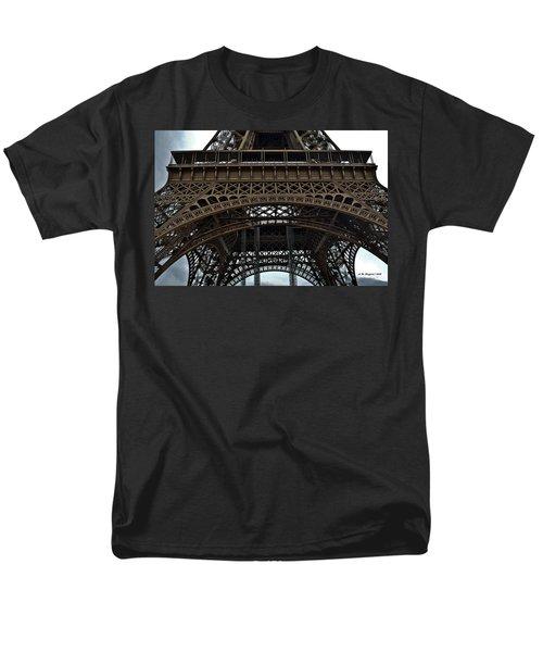 Men's T-Shirt  (Regular Fit) featuring the photograph Eiffel Tower - The Forgotten Names by Allen Sheffield
