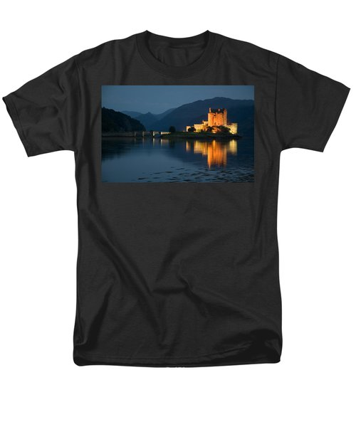 Men's T-Shirt  (Regular Fit) featuring the photograph Eilean Donan Castle At Night by Jeremy Voisey