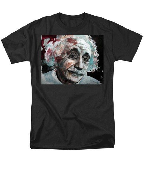 Men's T-Shirt  (Regular Fit) featuring the painting Einstein  by Laur Iduc